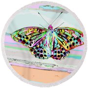 Abstract Butterfly Round Beach Towel