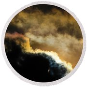 Abstract By Eclipse Round Beach Towel