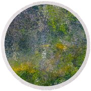 Abstract By Nature Round Beach Towel