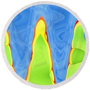 Abstract By Photoshop 12 Round Beach Towel