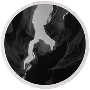 Abstract Canyon 2 Round Beach Towel