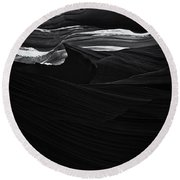 Abstract Canyon Round Beach Towel