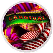 Abstract - Carnival Round Beach Towel
