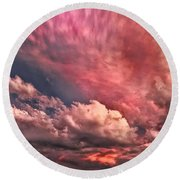 Abstract Clouds Round Beach Towel