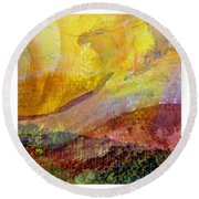 Abstract Collage No. 2 Round Beach Towel