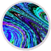 Abstract Color Flow Round Beach Towel