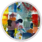 Abstract Color Relationships Lv Round Beach Towel