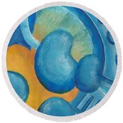 Abstract Color Study Round Beach Towel