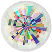 Abstract Color Wheel Round Beach Towel