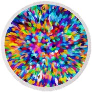 Abstract Colorful Splash Background 1 Round Beach Towel