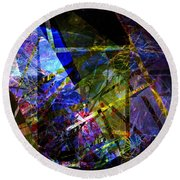 Abstract Composite 1 Round Beach Towel