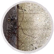Abstract Concrete 11 Round Beach Towel
