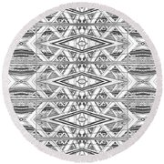 Abstract Constructions Structure 01 Round Beach Towel
