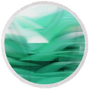 Abstract Cool Waves 2  Round Beach Towel