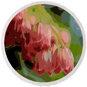 Abstract Coral Bells Round Beach Towel