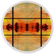 Abstract Cracker Tapestry Round Beach Towel