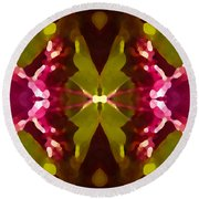 Abstract Crystal Butterfly Round Beach Towel