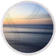 Abstract Cuban Sunset Round Beach Towel