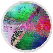 Abstract Cubed 1 Round Beach Towel