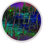 Abstract Cubed 104 Round Beach Towel