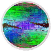 Abstract Cubed 114 Round Beach Towel