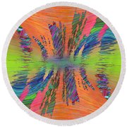 Abstract Cubed 168 Round Beach Towel