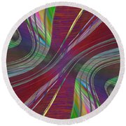 Abstract Cubed 181 Round Beach Towel