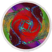 Abstract Cubed 189 Round Beach Towel