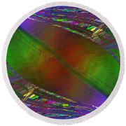 Abstract Cubed 193 Round Beach Towel