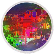 Abstract Cubed 2 Round Beach Towel