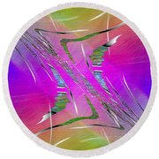 Abstract Cubed 223 Round Beach Towel