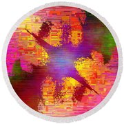 Abstract Cubed 26 Round Beach Towel