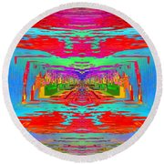 Abstract Cubed 30 Round Beach Towel