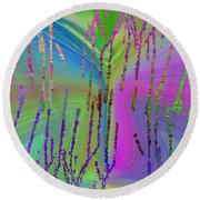 Abstract Cubed 63 Round Beach Towel