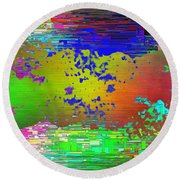 Abstract Cubed 64 Round Beach Towel