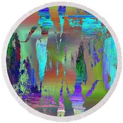Abstract Cubed 75 Round Beach Towel