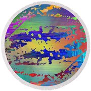 Abstract Cubed 99 Round Beach Towel