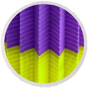 Abstract Cups Round Beach Towel