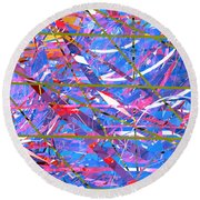 Abstract Curvy 45 Round Beach Towel
