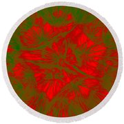Abstract Dandelion Bloom Round Beach Towel
