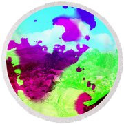 Abstract Desert Scene Round Beach Towel