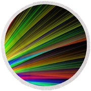 Abstract Digital Fractal Flame Art Round Beach Towel