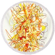 Abstract Drawing Fifty-three Round Beach Towel