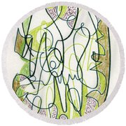 Abstract Drawing Forty-four Round Beach Towel
