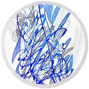 Abstract Drawing Seventy Round Beach Towel