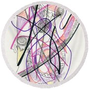 Abstract Drawing Twenty-six Round Beach Towel