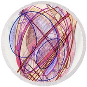 Abstract Drawing Twenty-two Round Beach Towel