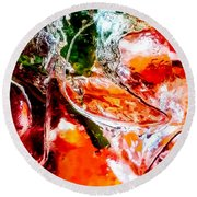 Abstract Drink Round Beach Towel