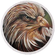 Abstract Eagle Painting Round Beach Towel