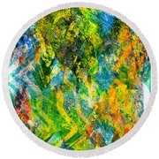 Abstract - Emotion - Admiration Round Beach Towel